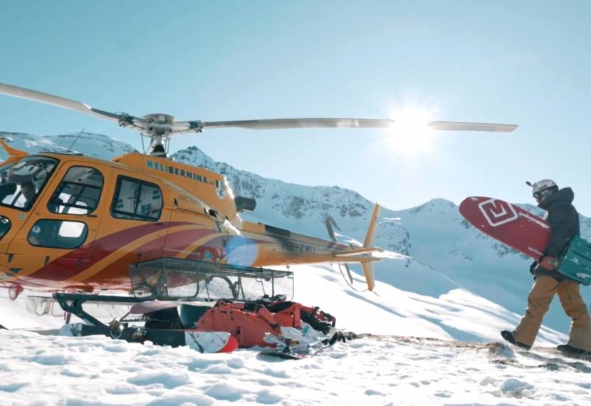 Snow kite i windsurfing w Szwajcarii.